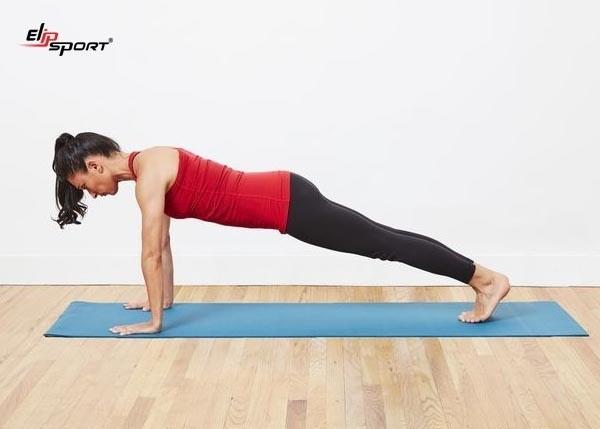 Động tác Plank Pose giúp giảm mỡ bụng
