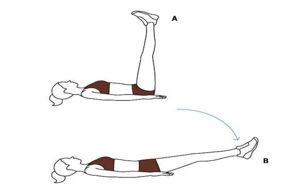Bài tập nâng chân đơn giản, dễ thực hiện