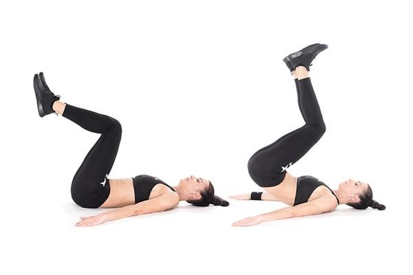 Động tác co chân kết hợp nâng hông