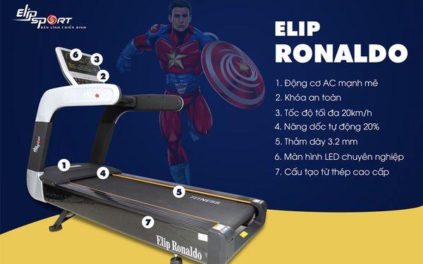 Máy chạy bộ đơn năng ELIP Ronaldo