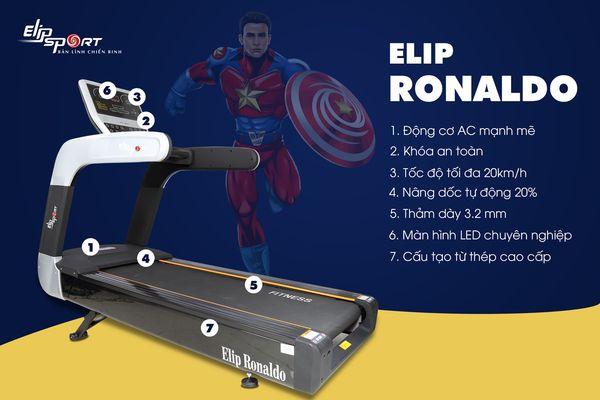 Đánh giá máy chạy bộ ELIP Ronaldo