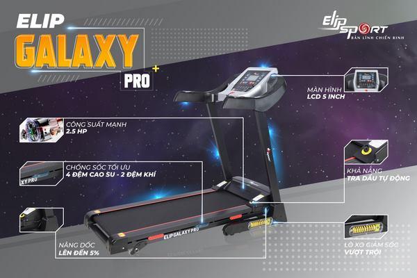 máy chạy bộ đơn năng ELIP Galaxy Pro